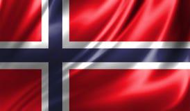 Grunge kolorowy tło, flaga Norwegia Obrazy Royalty Free