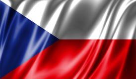 Grunge kolorowy tło, flaga republika czech Fotografia Royalty Free
