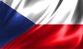 Grunge kolorowy tło, flaga republika czech Fotografia Stock