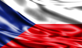Grunge kolorowy tło, flaga republika czech Zdjęcia Stock