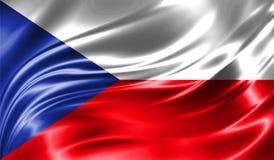 Grunge kolorowy tło, flaga republika czech Zdjęcie Stock