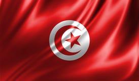 Grunge kolorowy tło, flaga Tunezja Obraz Royalty Free