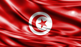 Grunge kolorowy tło, flaga Tunezja Zdjęcie Royalty Free