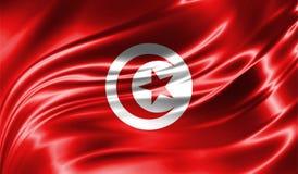 Grunge kolorowy tło, flaga Tunezja Obraz Stock