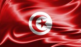 Grunge kolorowy tło, flaga Tunezja Zdjęcia Royalty Free
