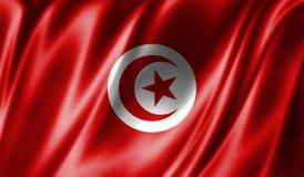 Grunge kolorowy tło, flaga Tunezja Zdjęcia Stock