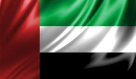 Grunge kolorowy tło, flaga Zjednoczone Emiraty Arabskie Obraz Royalty Free