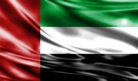 Grunge kolorowy tło, flaga Zjednoczone Emiraty Arabskie Fotografia Stock