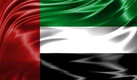 Grunge kolorowy tło, flaga Zjednoczone Emiraty Arabskie Obrazy Royalty Free