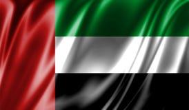 Grunge kolorowy tło, flaga Zjednoczone Emiraty Arabskie Obrazy Stock