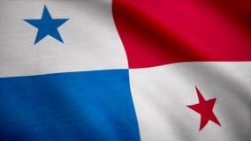 Grunge koloru tło, flaga Panama Zakończenie, trzepocze downwind Zdjęcie Stock