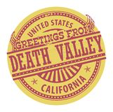 Grunge koloru znaczek z tekstów powitaniami od Śmiertelnej doliny ilustracji