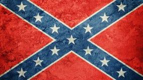 Grunge Konfederacyjna flaga Konfederacja zaznacza z grunge teksturą obraz stock