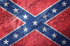 Grunge Konfederacyjna flaga Konfederacja zaznacza z grunge teksturą Obrazy Royalty Free