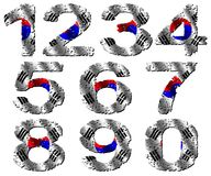 Grunge Korean flag numbers Stock Photo
