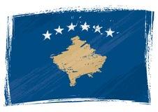 Grunge Kosovo flag Stock Photography