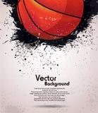 Grunge koszykówki tło Fotografia Stock