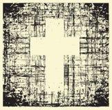 Grunge krzyż Obraz Stock