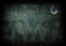 grunge księżyca Obrazy Royalty Free