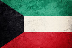 Grunge Kuwait flag. Kuwait flag with grunge texture. Stock Photo