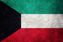Grunge Kuwejt flaga Kuwejt flaga z grunge teksturą Obraz Royalty Free