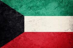 Grunge Kuwejt flaga Kuwejt flaga z grunge teksturą Zdjęcie Stock