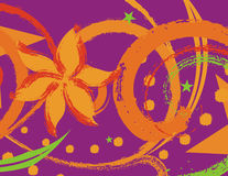grunge kwiecisty tła Obraz Royalty Free