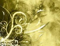 grunge kwiecisty tła Zdjęcia Royalty Free