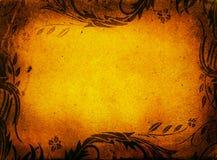 Grunge lövverkram stock illustrationer