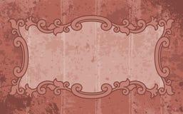 Grunge label. Grunge rust old fashioned vector illustration background label Stock Photos