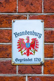 Grunge lable of Brandenburg (Germany) Stock Image