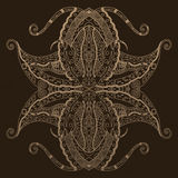 Grunge lace beige ornament. Royalty Free Stock Photography