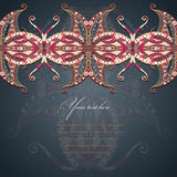 Grunge lace colored ornament. Royalty Free Stock Photography