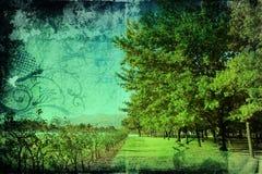 Grunge landscape Royalty Free Stock Image