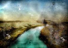 grunge lanscape kolaż fotografia royalty free
