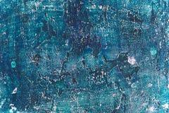 Grunge lantlig gammal textur för konst för blåttmålarfärgbetongvägg Fotografering för Bildbyråer