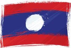 Grunge Laos flag Stock Photo