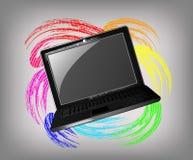 Grunge laptop Zdjęcie Stock