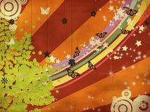 Grunge lata ilustracja z motylami royalty ilustracja