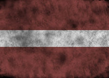 grunge latvia флага Стоковые Фото