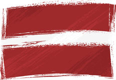 Grunge Latvia flag Stock Photo