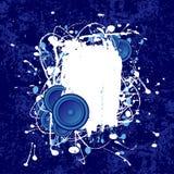 Grunge Lautsprecher-Textfeld Stockfoto