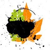 Grunge leaf background Royalty Free Stock Images