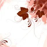 Grunge leaf design  Royalty Free Stock Images