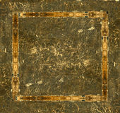 Grunge leather picture frame Royalty Free Stock Photo