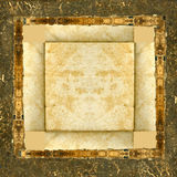 Grunge leather picture frame Stock Images