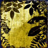Grunge Leaves Silhouette Royalty Free Stock Photos