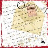 Grunge letter. Grunge style letter illustration  vector Stock Photography