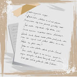 Grunge letter Stock Photos