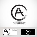 Grunge letter A logo black and white Stock Photography